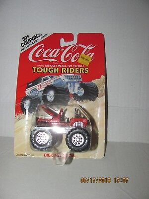 COCA COLA ADVERTISING on TOUGH RIDERS W/ BIG WHEELS from 1990   NEW IN PACK