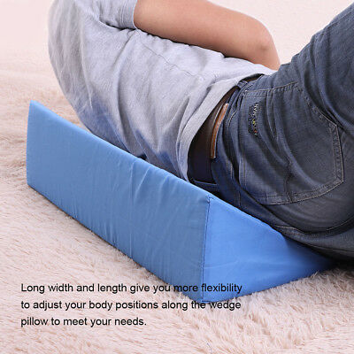 Acid Reflux Foam Bed Wedge Pillow Cushion Neck Back Support Sleep Cover Pad
