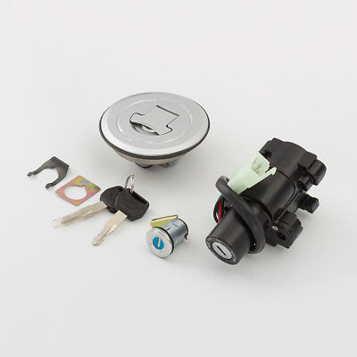 Fxcnc Ignition Switch Gas Cap Seat Lock Key For Vfr800 2003 2008