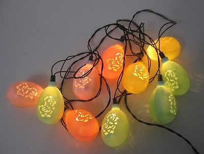 Vintage Easter Cut Out Chick Easter Egg Miniature Light String Set ~ 4 Available