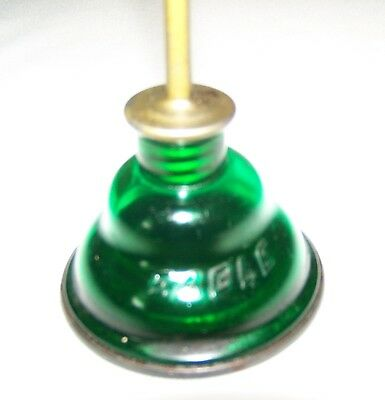 Vintage EAGLE brand Small Thumb Pump Oiler - Green Plastic & metal VGC