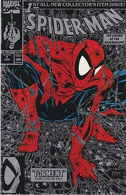 SPIDER-MAN #1 Near Mint - Vol 1 Todd McFarlane Silver Black Cover (1990 Marvel)