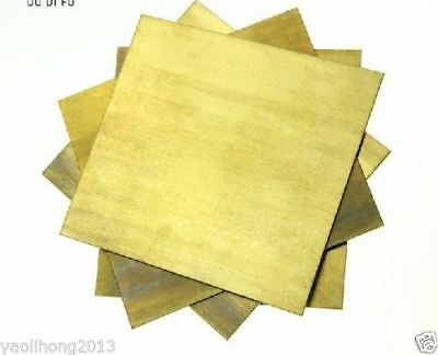10pcs Brass Metal Sheet Cathode Plate for Hull Cell 0.2mm x 100mm x 65mm # GY
