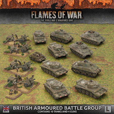 Flames of War: British Armoured Battlegroup (Late War Army Box)