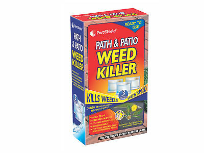 PestShield Path & Patio Biodegradable Systematic Weed Killer 3Pk glyphosate
