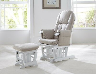 Tutti Bambini GC35 White Glider Nursing Chair And Stool  RRP £199