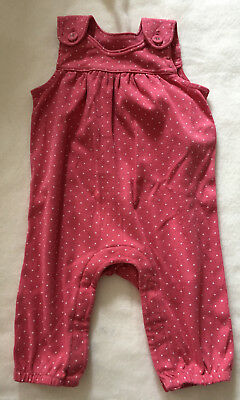 Baby girls M&S dungaree's age 3-6 months