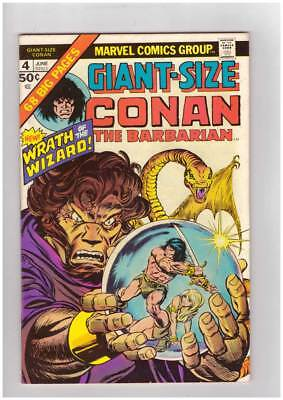 Giant-Size Conan # 4  Wrath of the Wizard grade 8.5 scarce book !!
