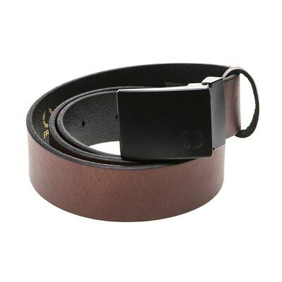 Black Brown BT6475 Fred Perry Men/'s Leather belt