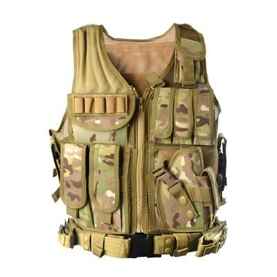 Military MutiPocket Assault Airsoft Molle Combat Tactical Vest Paintball Hunting
