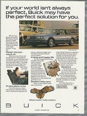 1987 BUICK SOMERSET advertisement page, Buick ad, Somerset coupe