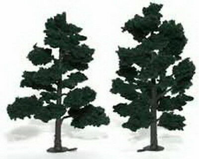 "Woodland Scenics TR1517 6""-7"" Dark Green Model Trees (2) - Ready to use"
