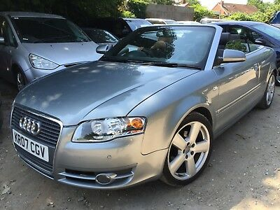 07 Audi A4 Cabriolet 2.0 Tdi 140Bhp S-Line *grey, Sat-Nav, Leather, Very Nice