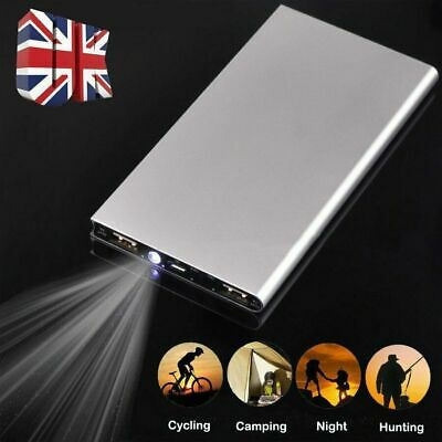100000mAh Ultra Thin Power Bank 3 USB Charger Backup Battery For Mobile Phones