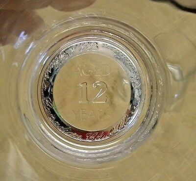 """Two Vintage Canadian Club Classic Whiskey Glass Bottom Embossed """"Aged 12 Years"""""""