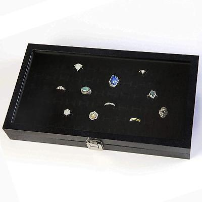 Ring Display Case Organizer Jewelry With Velvet Insert Liner For Personal Use