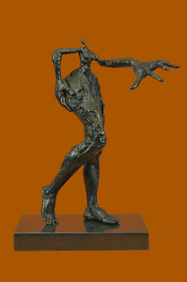 Bronze Funny Looking Woman by Dali Hot Cast Figurine Figure Sculpture Statue BC