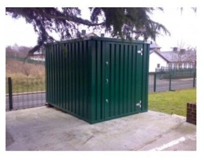 Expandastore collapsible steel store store container, 3 metre x 2.1m Green