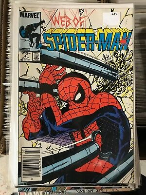 WEB OF SPIDER-MAN #4 VF/NM 1st Print CANADIAN PRICE VARIANT Newsstand