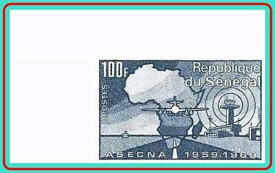 SENEGAL 1969 AVIATION SAFETY imperforated  CORNER MARGIN SC#321 MNH JOINT ISSUE