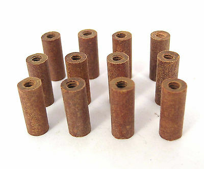"Phenolic Threaded Spacers/Standoffs, 6/32 x 5/8"" Long: 12/Lot: HH Smith 8679"