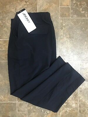 NWT Jockey Navy Cargo Scrub Pants Stretch Drawstring Women's Size M