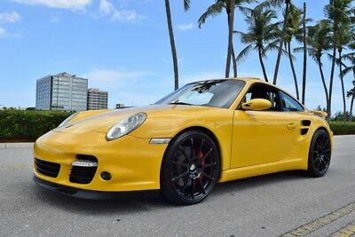 2007 Porsche 911 Turbo 997/ 997.1 1 Owner-Speed Yellow-Sport Seats Yellow Hardbacks-Well Sorted- 6 Speed-Low Miles
