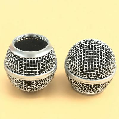 2 PCS Replacement Ball Head Mesh Microphone Grille for Shure SM58 SM58S SM58LC