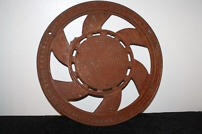 ANTIQUE CAST IRON STOVE PIPE VENT MADE BY THE ADAMS CO DUBUQUE IOWA Pat. 1897