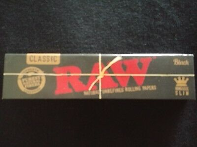 1 x Raw Black Hemp King Size Slim Rolling Papers Natural Unrefined Organic 110mm