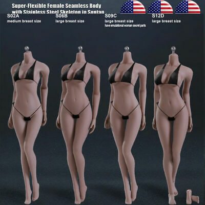 PHICEN TBLeague 1/6 Female SEAMLESS Body w/ Stainless Steel Skeleton in SUNTAN