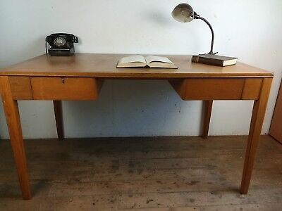 Vintage 1951 War department light oak study desk office vintage military old