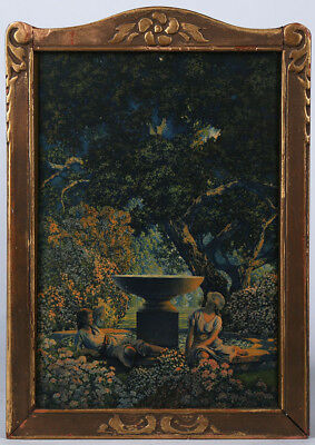 Maxfield Parrish Framed Antique Fine Art Print Reveries Edison Mazda Adv. 1929