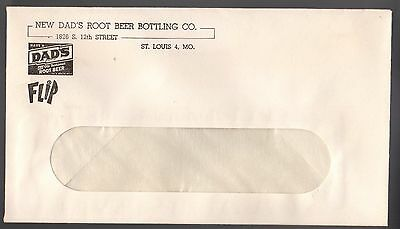 "New Dad's Root Beer Bottling Co.  Envelope(1) 6 1/2"" X 3 5/8""St. Louis 4, MO."