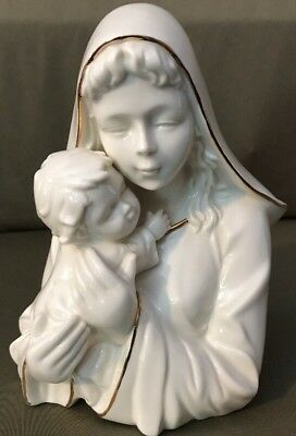 Mikasa Porcelain Madonna and Child With Gold Accents FK001 - JUST RAVISHING
