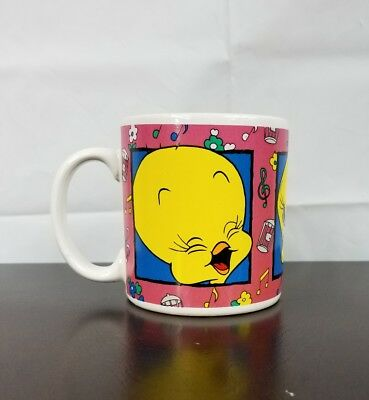 Vintage Looney Tunes Mug Tweety Bird Sakura Coffee Cup Tea 12 oz Ceramic 1993