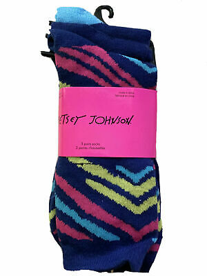 Betsey Johnson 2 Pack Of 3 Pair Socks Size 9-11 New Quality