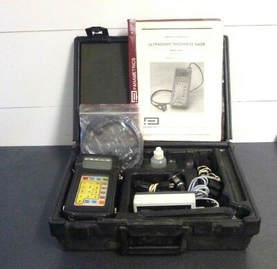 Panametrics 26 DL Ultrasonic Thickness Gauge In Case With Power + Cables