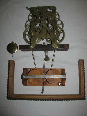 Forestville Fusee Clock  Movement Ripple Front Parts
