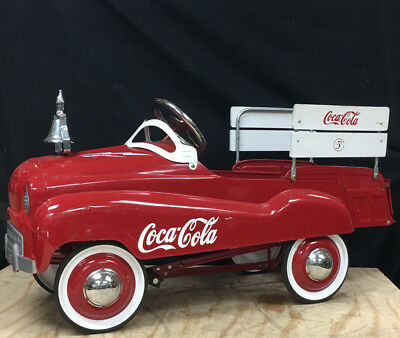 Coca Cola Metal Pedal Car Red White Vintage Nice Antique Coke Old Fire Engine