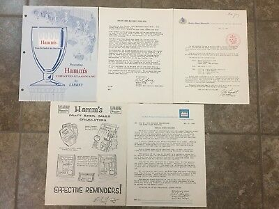 Rare Original Archived Records Hamm's Beer Letterhead Brewery