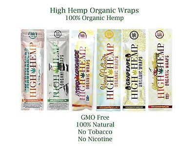 High Hemp Variety Pack 25 pouches (50 wraps total) Herbal Organic Wraps Combo