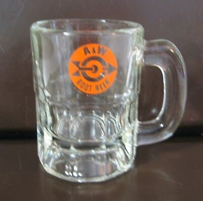 A&W Root Beer Mini Mug Glass,  3 1/8 Inches tall
