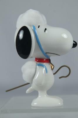 Dept 56 & Peanuts 'Sheep Dog' Snoopy Flocked Top & Tail #4051655 New In Box!