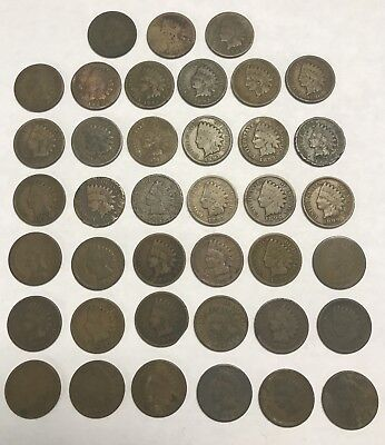 Lot of (39) 1800's Indian Head Cents