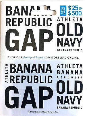 $30 Gap, Old Navy, Banana Republic, Athleta Gift Card