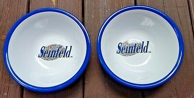 """NEW Set of 2 Seinfeld Cereal Bowls by Selandia 8"""" - 1989 Kellogg's Offer * RARE!"""