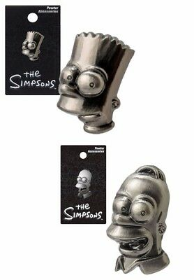The Simpsons Homer and Bart Pewter Lapel Pin Action Figure Pewter 2 Pack