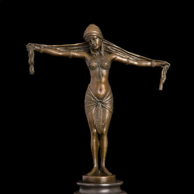 Art Deco handmade Sculpture  European Beauty sculpture Bronze Copper Statue