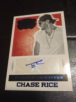 2014 Panini Country Music Chase Rice Authentic Signature Autograph Blue /199!!!